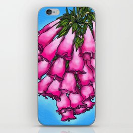 Pretty in Pink Bell Flowers iPhone Skin