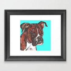 Boxer printed from an original painting by Jiri Bures Framed Art Print