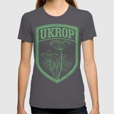 Ukrop Womens Fitted Tee Asphalt SMALL