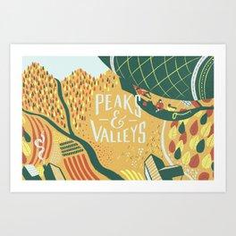 Graft - Peaks & Valleys Art Print