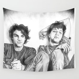 Gene & Dean Ween Graphite Drawing Wall Tapestry
