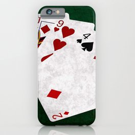 Poker Hand High Card King Jack Nine Four Two iPhone Case