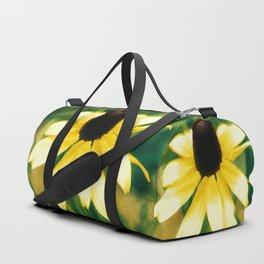 Vibrant Yellow Coneflower Duffle Bag