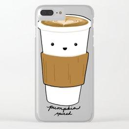 Pumpkin Spiced Latte Clear iPhone Case