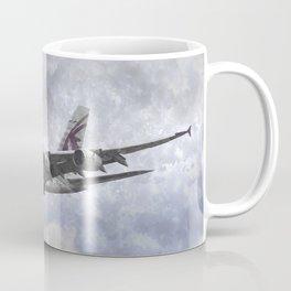 Qatar Airlines Airbus Art Coffee Mug