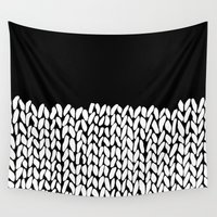 knit Wall Tapestries featuring Half Knit by Project M
