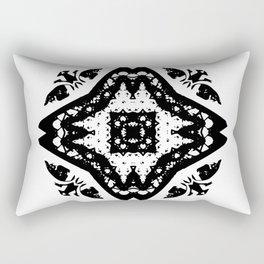 Callisto I (Black) Rectangular Pillow