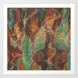 Ecstatic Pelvis (Meat Flame) Art Print