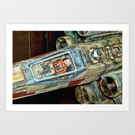 X-Wing Fighter Art Print