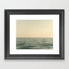 Fleet Nautical Sailboat Framed Art Print