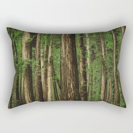 Sitting in the Forest Rectangular Pillow