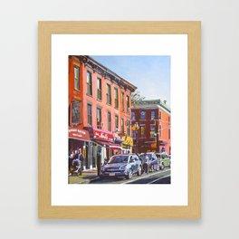 Smith Street Carroll Gardens, Brooklyn Framed Art Print