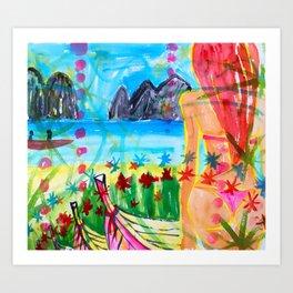 Koh pipi island in Thailand Art Print