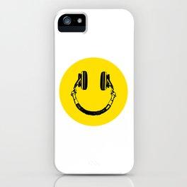 Smiley Headphone - acid house iPhone Case