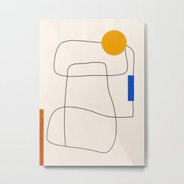 Minimal Geometric Shapes 67 Metal Print