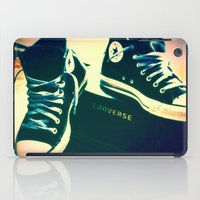 sneakers iPad Cases featuring Converse Sneakers by Tyland Creations
