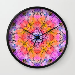 Lace pattern design Vector decorative banner Wall Clock