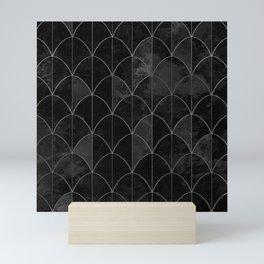 Mermaid scales in black and white. Mini Art Print