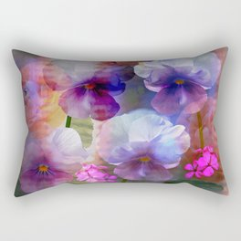 Paint me a garden Rectangular Pillow