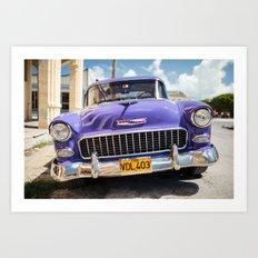 Purple Chevy Art Print
