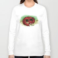 cigarette Long Sleeve T-shirts featuring Cigarette Crab by Victoria Morris