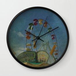 Textured Ferris Wheel Wall Clock
