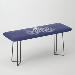 Octopus | Navy Blue and White Bench