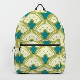 Fan Pattern Chartreuse Backpack