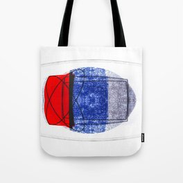Blue and Red (with elipse and square) Tote Bag