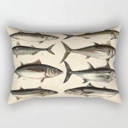 Vintage Illustration of Tunas, Mackerels & Bonitas Rectangular Pillow