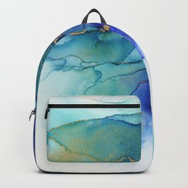 Electric Waves Violet Turquoise - Part 2 Backpack