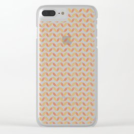 Colors of Autumn Pattern Clear iPhone Case