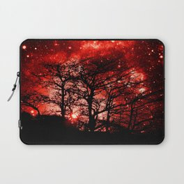 black trees red space Laptop Sleeve