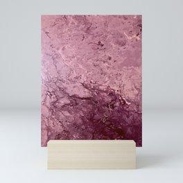 Catching Up - Mauve Purple Pink Abstract Fluid Art Mini Art Print