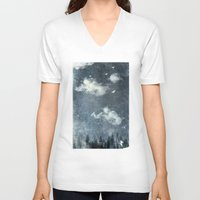 cloud V-neck T-shirts featuring The cloud stealers by HappyMelvin