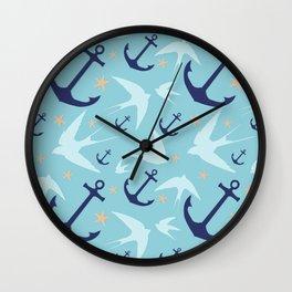 Swallows & Anchors Wall Clock
