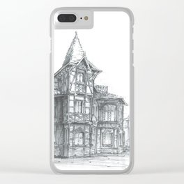 Tenement house in Toruń, Poland Clear iPhone Case
