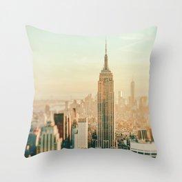 New York City Skyline Dreams Throw Pillow