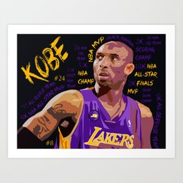 BLACKMAMBA Art Print