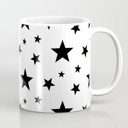 Stars pattern White and Black Coffee Mug