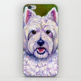 Colorful West Highland White Terrier Dog iPhone Skin
