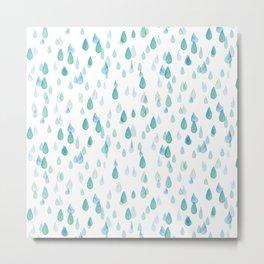 Blue Drops I Metal Print