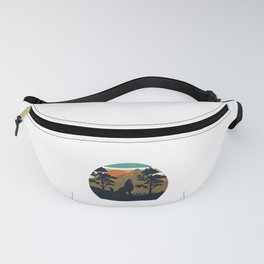 Hiking t shirt for camping fans and backpackers Fanny Pack