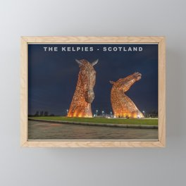 The Kelpies in Falkirk, Scotland Framed Mini Art Print