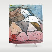 rocky Shower Curtains featuring Rocky by Tonya Doughty