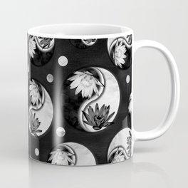 Yin Yang - Lotus flowers pattern -dark Coffee Mug