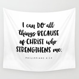 Philippians 4:13 - Bible Verse Wall Tapestry