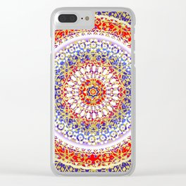 Violet Baroque Mandala Clear iPhone Case