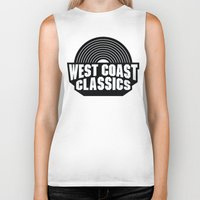 west coast Biker Tanks featuring West Coast Classics by Popp Art