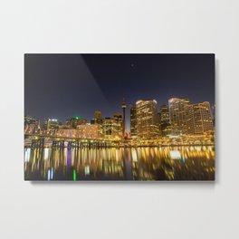 Sydney Night Skyline Metal Print